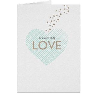 Cartes Envoi d'un bon nombre d'amour