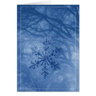Cartes Envoyez l'étincelle d'un flocon de neige d'hiver