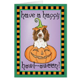 Cartes Épagneul de springer anglais de Halloween