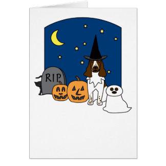 Cartes Épagneul de springer anglais Halloween