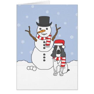 Cartes Épagneul et bonhomme de neige de springer anglais