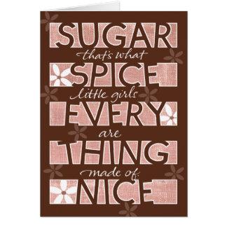 Cartes Épice et tout de sucre bonnes