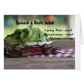 Cartes Épinards et salade de betteraves