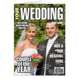 Cartes Épouser la couverture de magazine personnalisée