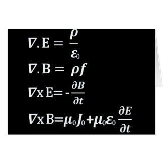 Cartes équation de physique de maxwell