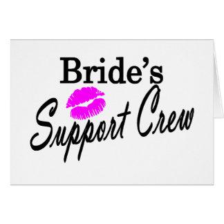 Cartes Équipage de soutien de jeunes mariées