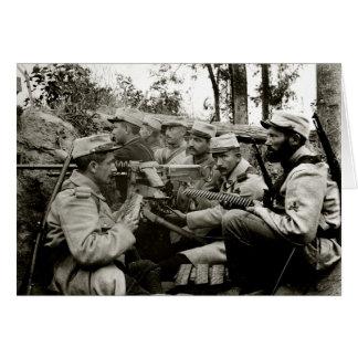 Cartes Équipage français de mitrailleuse de WWI