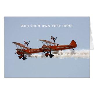 Cartes Équipe acrobatique aérienne d'affichage de