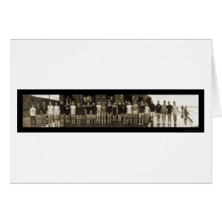 Cartes Équipe d'équipage de Yale et photo énorme 1910 de