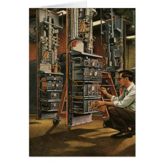 Cartes Équipement vintage de fixation de technicien de