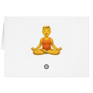 Cartes Équipez en position de Lotus - Emoji