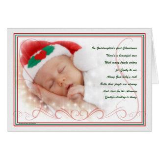 Cartes Ęr poème de coutume de Noël de la filleule