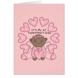 Cartes Ęrs Valentines de fille - Afro-américain