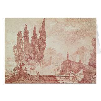 Cartes Escalier dans les jardins du d'Est de villa