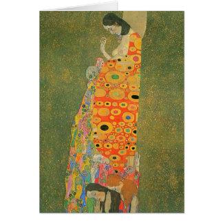 Cartes Espoir abandonné par Gustav Klimt