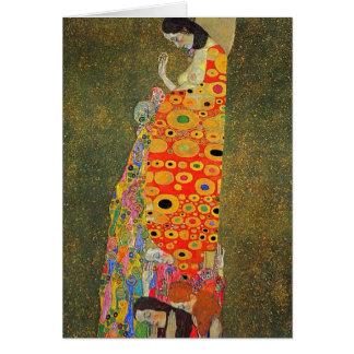 Cartes Espoir abandonné par Klimt de Gustav