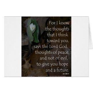 Cartes Espoir de 29:11 de Jérémie à l'avenir