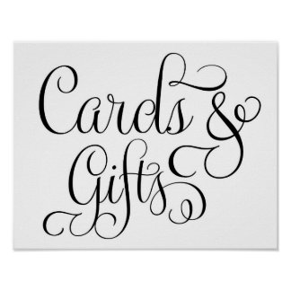 Cartes et cadeaux épousant le signe affiches