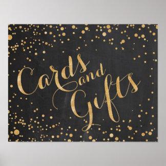 Cartes et cadeaux épousant le signe poster