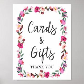 Cartes et cadeaux romantiques de guirlande de posters