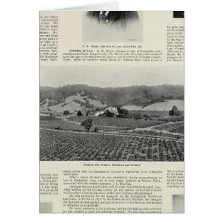 Cartes Établissement vinicole de colline de Moulton, la