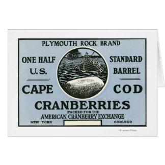 Cartes Étiquette de canneberge de marque de Cape Cod