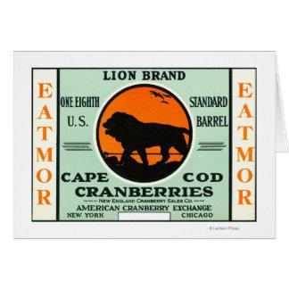 Cartes Étiquette de marque de canneberges d'Eatmor de