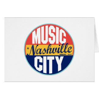 Cartes Étiquette vintage de Nashville
