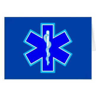 Cartes Étoile de bleu du symbole SME d'infirmier de la