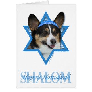 Cartes Étoile de David de Hanoukka - corgi