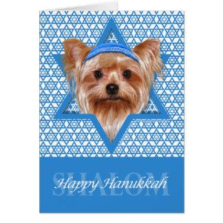 Cartes Étoile de David de Hanoukka - Yorkshire Terrier