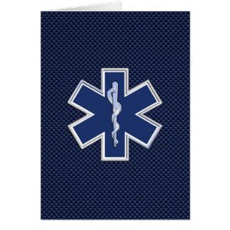 Cartes Étoile de l'infirmier SME de la vie sur la fibre