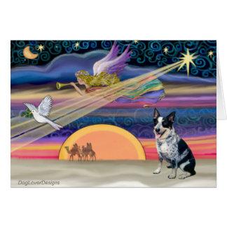 Cartes Étoile de Noël - chien australien de bétail