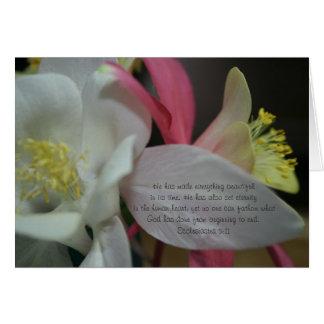 Cartes Étoile filante - 3h11 d'Ecclesiastes de fleur de