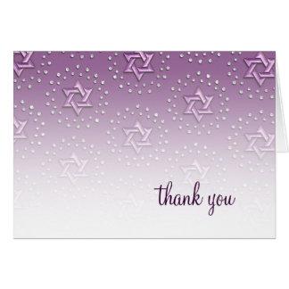 Cartes Étoile pourpre du Merci de damassé de David