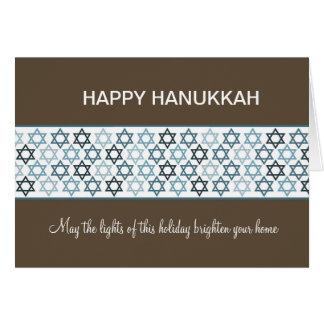 Cartes Étoiles de David heureuses de Hanoukka