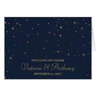 Cartes Étoiles filantes élégantes de marine et d'or