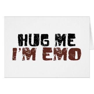 Cartes Étreignez-moi que je suis Emo