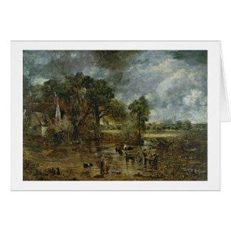 """Cartes Étude complète pour """"le foin Wain"""", c.1821"""