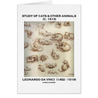 Cartes Étude des chats et d'autres animaux (Leonardo da