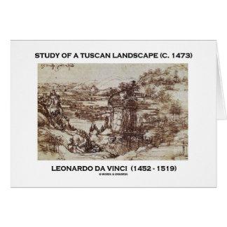 Cartes Étude d'un paysage toscan Leonardo da Vinci 1473