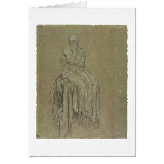 Cartes Étude pour la solitude, c.1890 (craie sur le