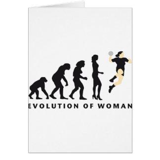 Cartes évolution female handball
