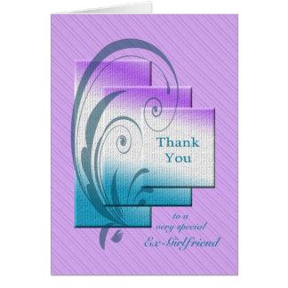 Cartes Ex-amie de Merci, avec des rectangles élégants