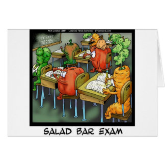 Cartes Examen de comptoir à salades drôle