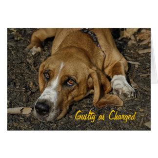 Cartes Excuses de Mable de chien de délivrance de Basset