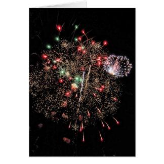Cartes Explosion en altitude 2 de feux d'artifice