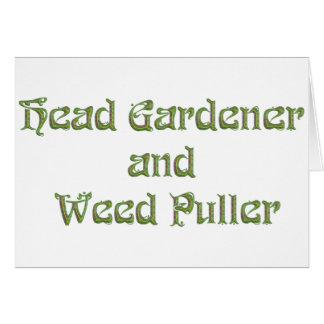 Cartes Extracteur principal de jardinier et de mauvaise