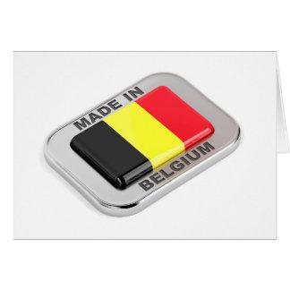 Cartes Fabriqué en Belgique