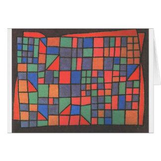 Cartes Façade en verre par Paul Klee
